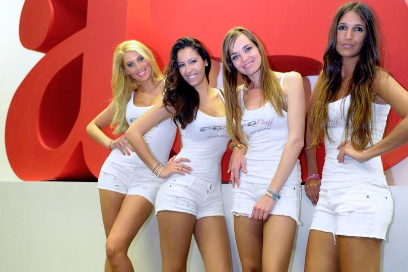 Con ustedes, las promotoras de la F1. Foto: Gentileza As.com