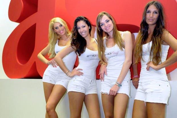Con ustedes, las promotoras de la F1.  /Gentileza As.com