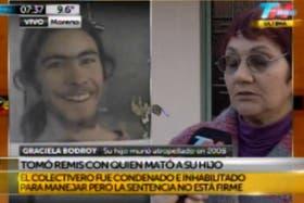 Graciela Bodroy sufrió en el 2008 la pérdida de su hijo Eduardo