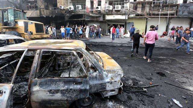 El atentado suicida con coche bomba fue perpetrado por el grupo terrorista Estado Islámico. Foto: EFE