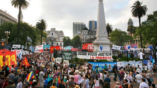 La concentración en Plaza de Mayo