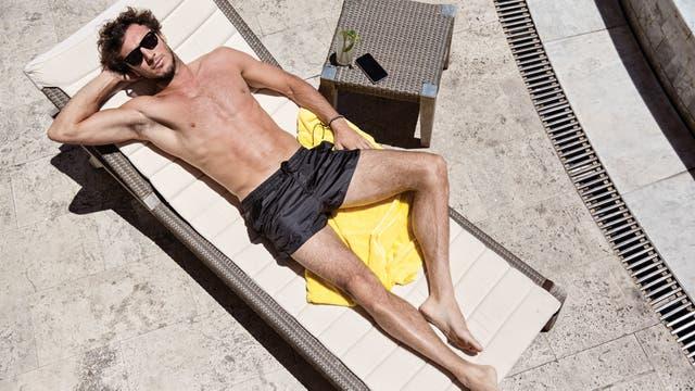Juan Mónaco, durante la producción de fotos para LN Revista