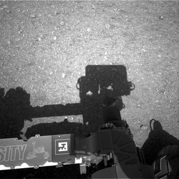 El suelo marciano, en detalle. Foto: AFP