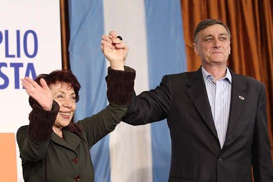 Binner lanzó su mensaje consolidado como la segunda fuerza política en las elecciones presidenciales. Foto: LA NACION / Fabián Marelli