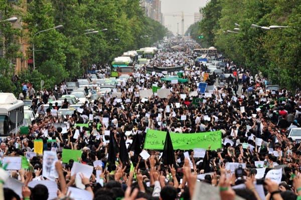 Una de las imágenes que registró Hamed Saber desde su perfil de Flickr. Las redes sociales amplifican la protesta pero no son los únicos disparadores