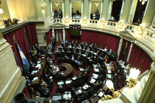 En una maratónica sesión el Senado aprobó por amplia mayoría el proyecto oficial sobre YPF. Foto: LA NACION / Marcelo Gómez
