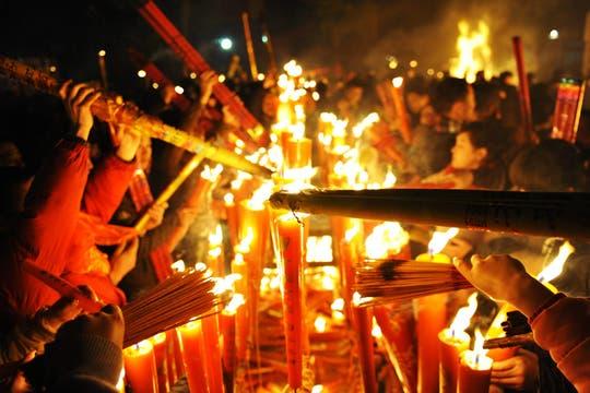 En todo el mundo y con grandes festejos, China, recibe el Año Nuevo Lunar. Foto: EFE