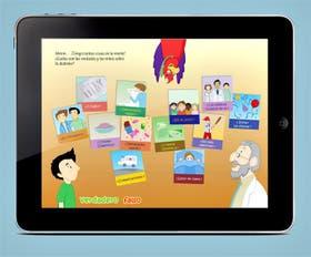 Una de las pantallas del juego educativo para aprender sobre diabetes