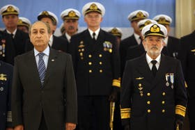 El ministro Puricelli y el jefe de la Armada Daniel Marín