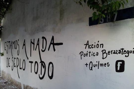 Acción Poética Berazategui. Foto: Facebook