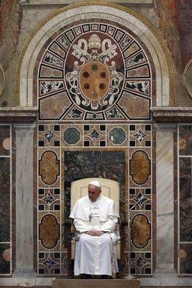 El Papa, ayer, en el Vaticano