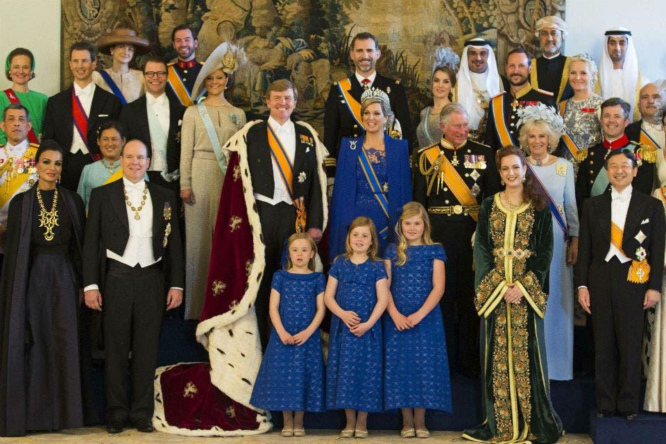 La foto oficial en el Palacio Real. Foto: /AP