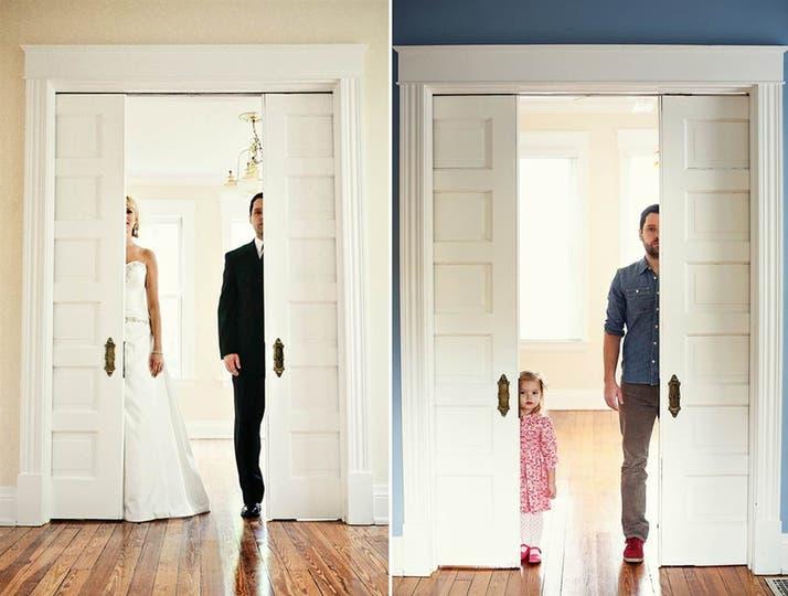 Ben Nunery se retrató junto a su hija, luego de que su mujer muriera de cáncer. Foto: Melanie Pace
