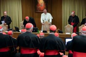 El papa Francisco, ayer, en el consistorio