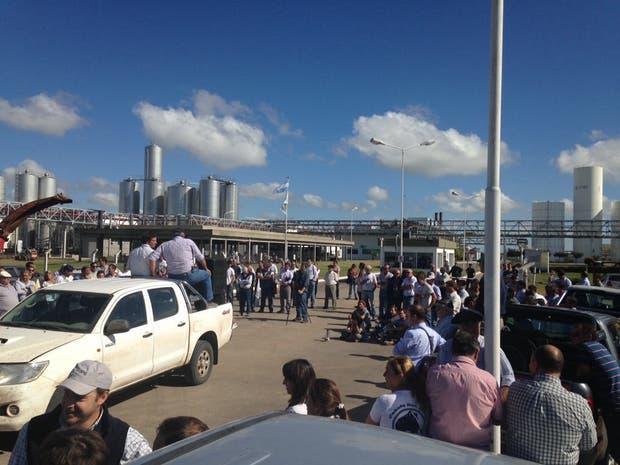 En Trenque Lauquen los tamberos bloquearon una planta de La Serenísima entre las 9 y las 15