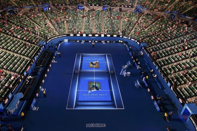 Así lucía el Rod Laver Arena antes del partido de Federer