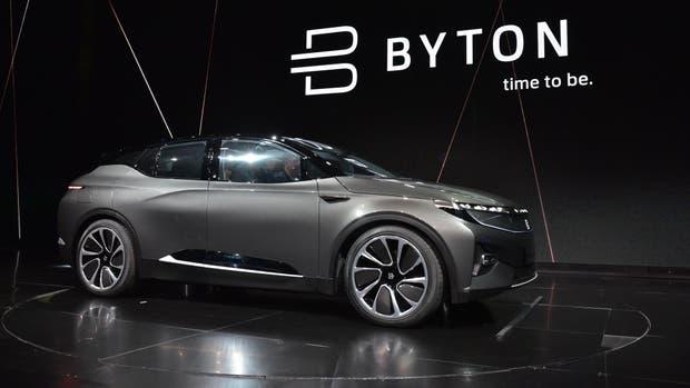 Una vista del Byton, el auto eléctrico chino que saldrá a la venta en 2019 con un precio estimado de 45 mil dólares