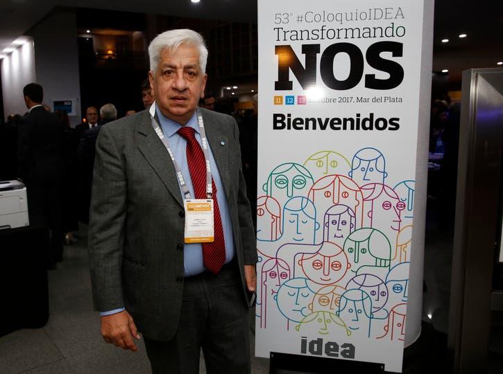 Julio Piumato, en el Sheraton. Foto: Mauro V. Rizzi