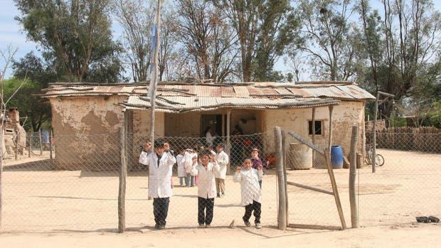 Una escuela rural en el interior de nuestro país