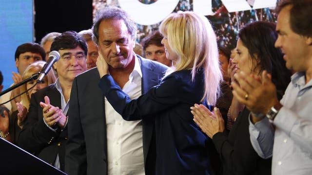 Daniel Scioli luego de perder las elecciones en 2015