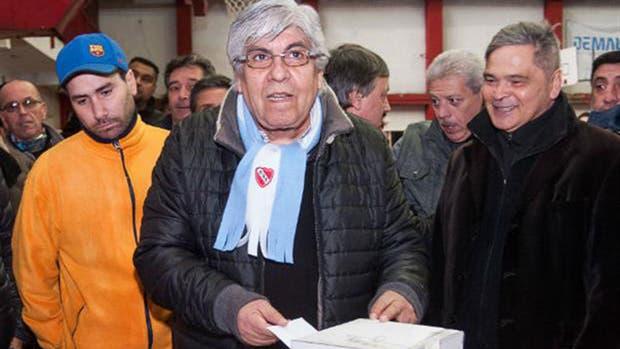 Moyano anunció que irá por la reelección en Independiente