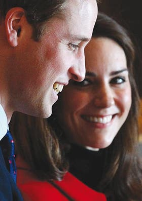 Parejita feliz. William y Kate encarnan el futuro inmediato de la realeza británica