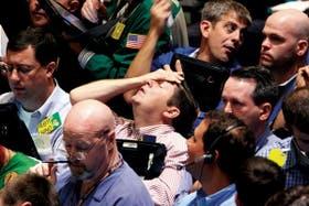 La Bolsa de Nueva York, en plena debacle, uno de los críticos días de septiembre que hicieron temblar los mercados del mundo