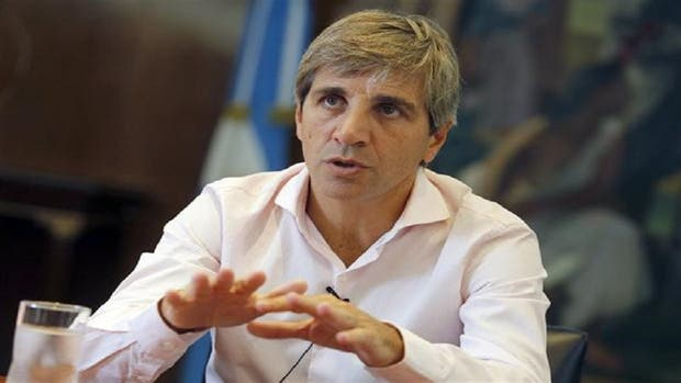El ministro de Finanzas, Luis Caputo