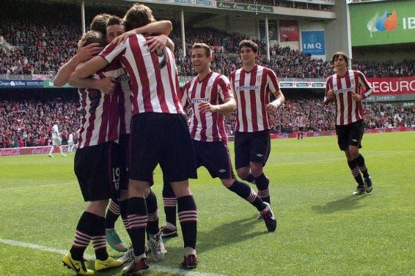 El festejo del equipo de Bilbao