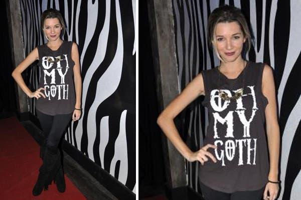 Micaela Breque, con un atuendo más rocker, fue a bailar a Animal. ¿Te gusta su onda?. Foto: Virtual Press