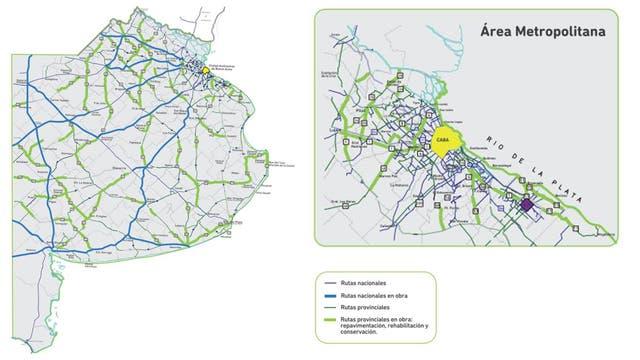 Las obras que se harán este año en las rutas de la provincia de Buenos Aires.
