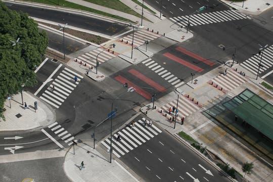 Vista de 9 de Juio y Lavalle desde el Hotel Panamericano. Foto: LA NACION / Mariana Araujo