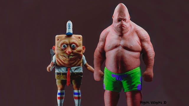 Bob Esponja y Patricio, creados por el realizador Miguel Vásquez
