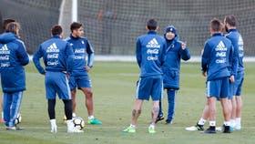 Sampaoli encabeza el tercer entrenamiento de la selección argentina, previo al amistoso con Brasil del próximo viernes
