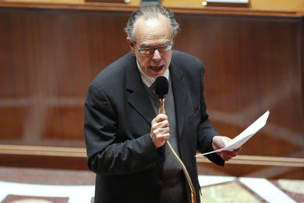 El ministro de Cultura, Frederic Mitterrand, que heredó el tratamiento de la segunda versión de la Ley HADOPI, ante la Asamblea Nacional