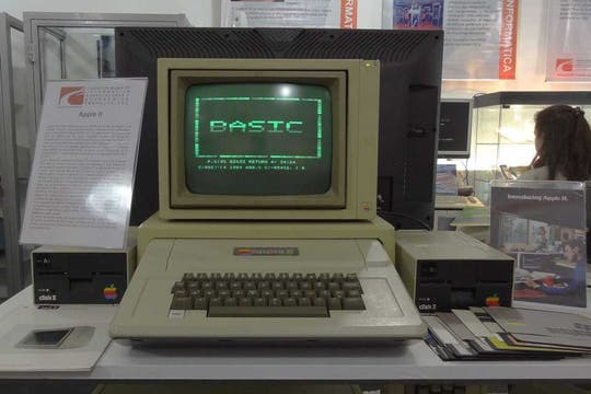 Una vista de la Apple II.