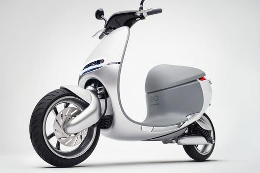una vista del scooter gogoro