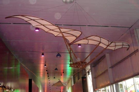 Todos los inventos voladores del genio italiano se encuentran en la muestra de ciencia. Foto: LA NACION / Víctor Ingrassia