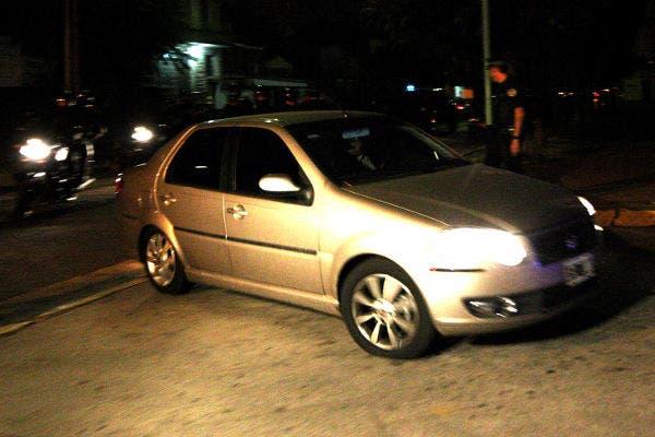 El auto en el que trasladaron al arquero de San Lorenzo