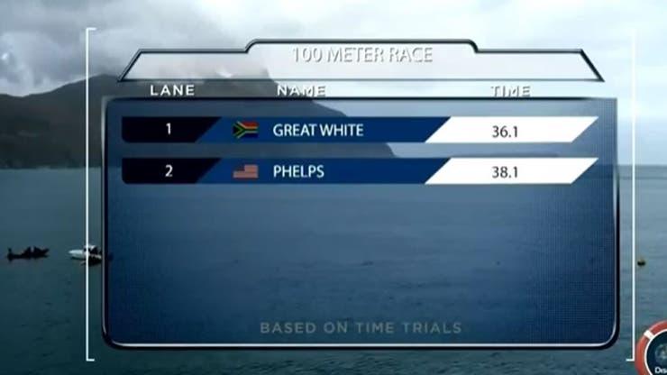 Phelps no pudo contra el tiburón blanco