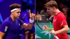 A mano: Francia y Bélgica terminaron 1-1 en el primer día de la final de Copa Davis