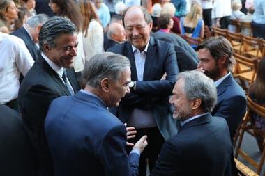 Daniel Rafecas, Miguel Ángel Pichetto, Ernesto Sanz, Federico Salvai y Gustavo Ferrari en la reinauguración del Museo del Holocausto