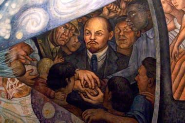 Parte del polémico mural (hoy reconstruido en el Palacio de Bellas Artes de Ciudad de México)