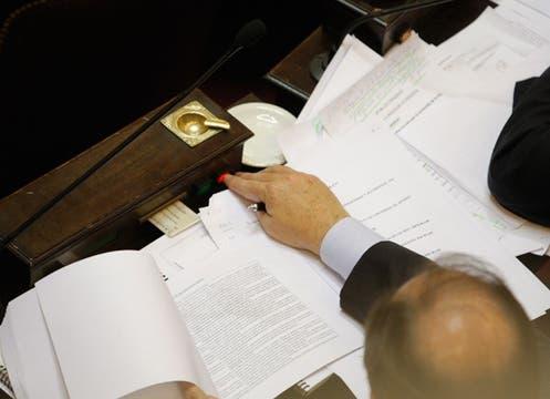 La votación de cada artículo llevó cuatro horas. Foto: LA NACION