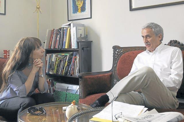 Cheresky, en la entrevista con LA NACION