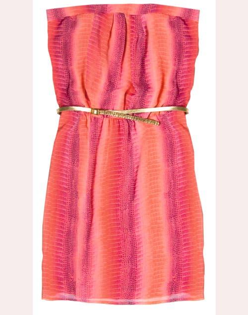 Vestido strapless Tucci, $790.