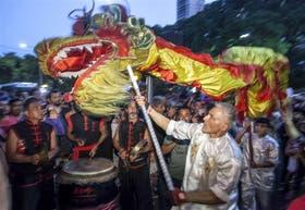 Una multitud visitó el barrio Chino por los festejos de Año Nuevo