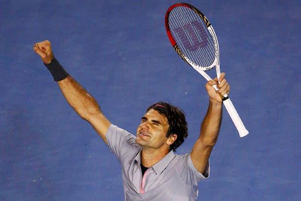 Federer, feliz