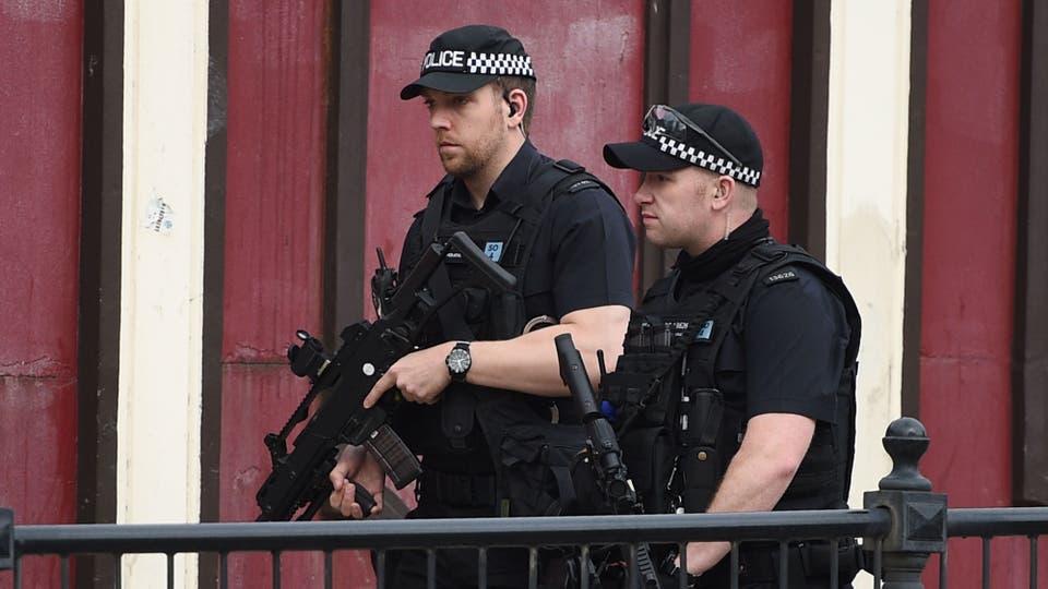 Las calles están fuertemente custodiadas . Foto: AFP / Oli Scarff