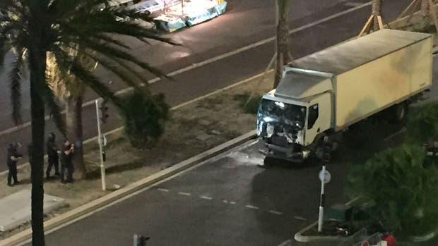 Camión que causó el atropello